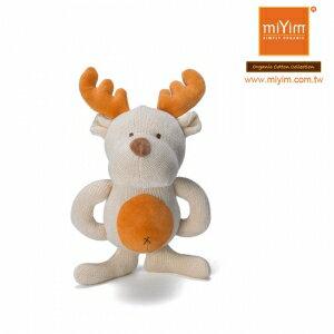 美國【miYim】有機棉咬咬牙娃娃禮盒(一入-麋鹿)