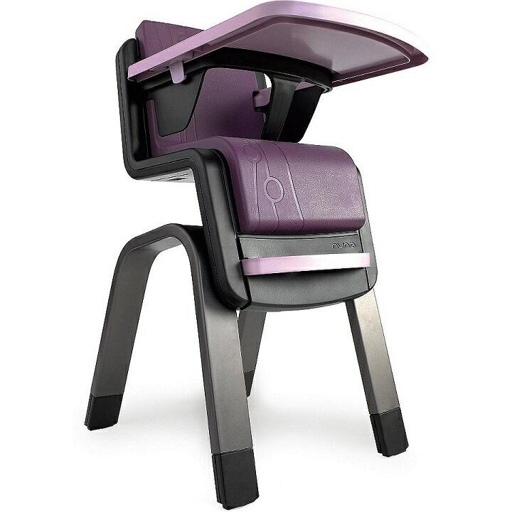 【贈快樂寶貝禮盒+收納袋+玩偶(隨機)】荷蘭【Nuna】ZAAZ 高腳椅(紫黑) 1