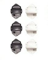 瑞典【Lascal】KiddyGuard安全門欄配件 - 鎖鉤邊欄杆安裝套件(3入)