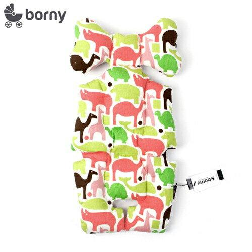 韓國【 Borny 】全身包覆墊 (推車、汽座、搖椅適用)(粉動物)
