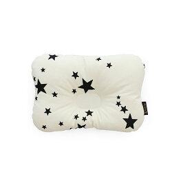 韓國【Borny】 3D透氣蜂巢塑型嬰兒枕(0~6個月適用) (白星星)
