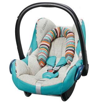 【限量1台$7000】荷蘭【Maxi Cosi】Folkloric 波西米亞風 Cabrio頂級提籃(汽座汽車安全座椅) -藍