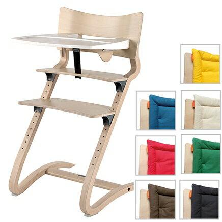 丹麥【Leander】新款二代高腳椅+二代護欄+餐盤+座墊-水洗木 - 限時優惠好康折扣