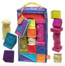 美國【B.Toys】寶寶軟積木-羅馬城堡 BX1003N - 限時優惠好康折扣