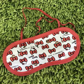 【真愛日本】17080800009 助眠眼罩-KT蝴蝶結多圖 三麗鷗 kitty 凱蒂貓 眼罩 睡眠用品 居家生活