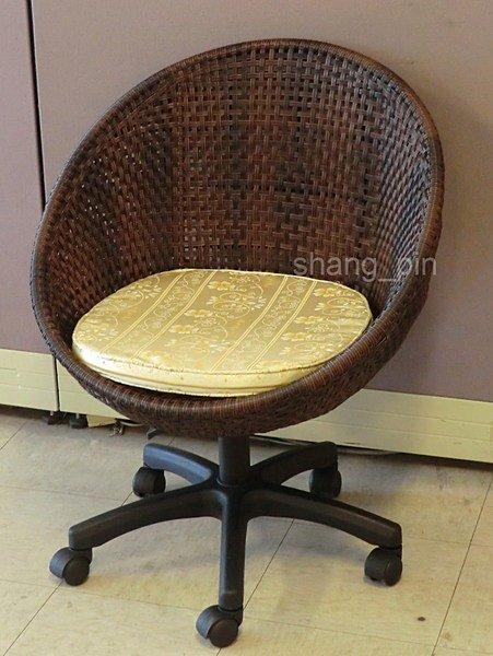 【尚品家具】629-31仿藤辦公椅/電腦椅/休閒藤椅/房間椅《台中市部分地區免運費》