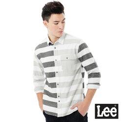 Lee Urban Rider 條紋長袖襯衫-男款-灰