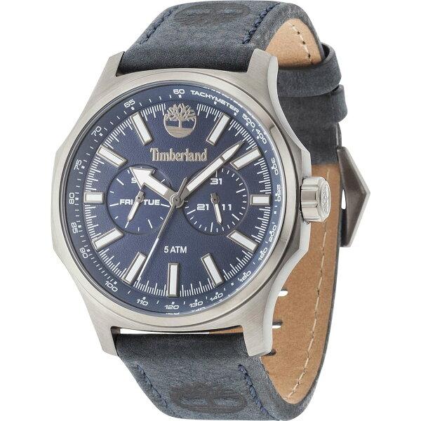 Timberland天柏嵐TBL.14813JSU03休閒雙日曆腕錶藍面46mm