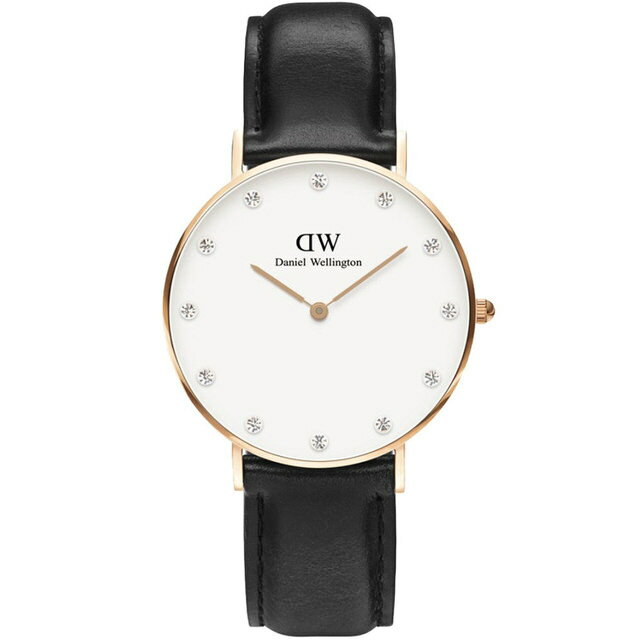 【公司貨】Daniel Wellington DW 瑞典簡約風格 34mm /Swarovski/水晶 / DW00100076(暢銷款!)