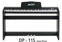 Jazzy 88鍵 DP115電鋼琴,專業鋼琴力度感應+仿重鎚 標準鍵+三踏板,法國PCM音源,電子琴 手捲鋼琴