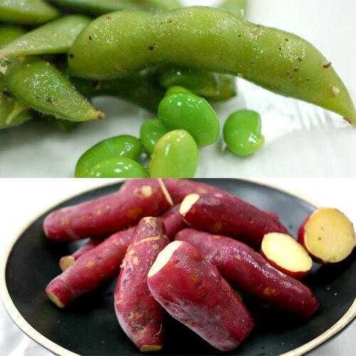 【築地一番鮮】夏日涼拌毛豆X5包+冰地瓜5包(500g/包)