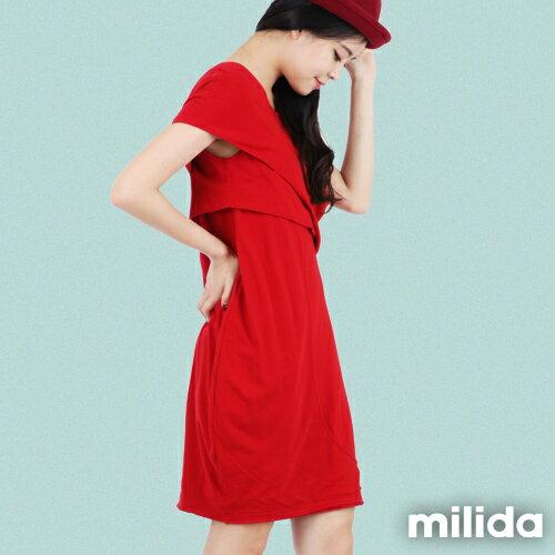 【Milida,全店七折免運】-春夏商品-造型款-甜美花苞洋裝 5