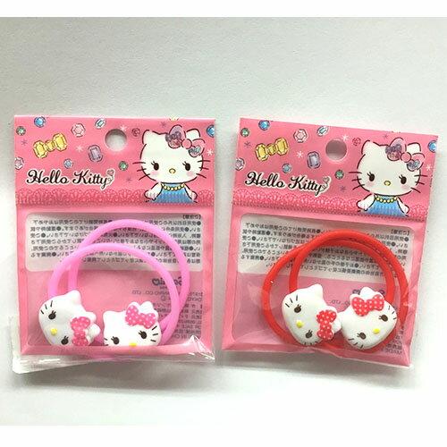 【真愛日本】17052300021 兩入小髮束-KT頭紅粉兩款 三麗鷗 Hello Kitty 凱蒂貓 髮束 髮圈