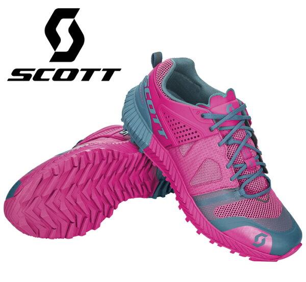 【SCOTT美國】SCOTTKINABALUPOWER透氣越野跑鞋多功能鞋健行鞋女款/265978-PB