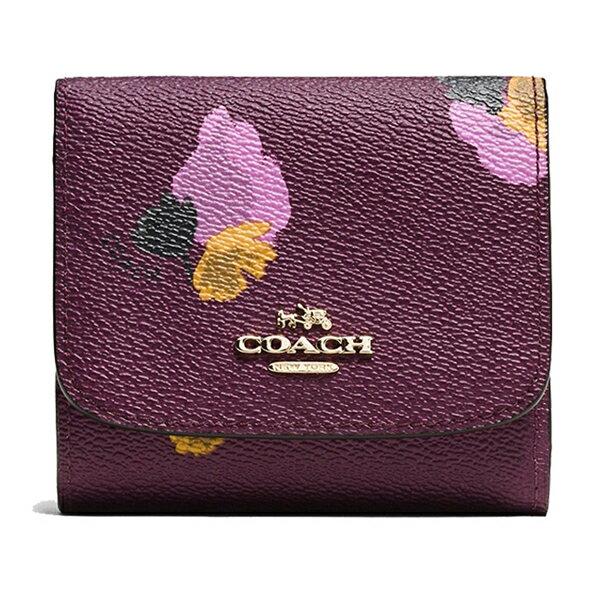 【COACH 時尚皮革短夾】COACH 53758 女士時尚皮質短款錢包錢夾 0