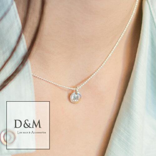 純銀姓名項鍊 字母Alphabet鎖骨鍊Silver 925訂製款pandora可參考D&M Shop 【A00022】