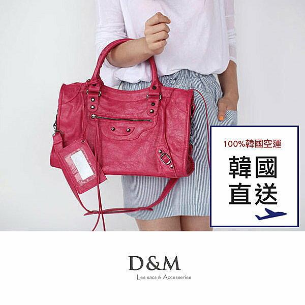 韓國直送機車包率性經典 皮革手提/肩背包/斜背包巴黎世家D&M Shop 【05071】