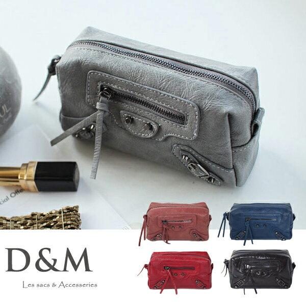 正韓機車化妝包/相機包/手機包 手提/斜背2用D&M Shop【B11075】