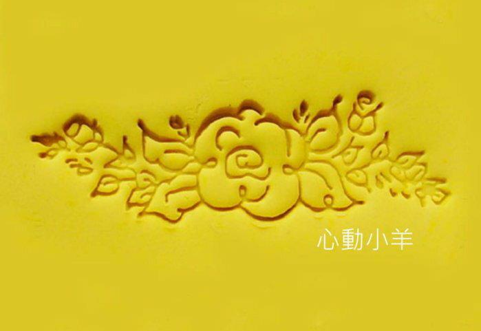 心動小羊^^扶桑花歐式花邊DIY材料 工具 皂皂章 皂印 皂章 圖案章樹脂透明皂章