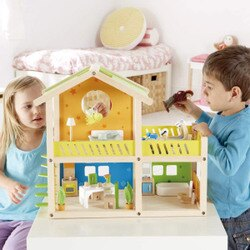 德國 Hape愛傑卡 我的快樂小屋(帶傢俱)/娃娃屋系列