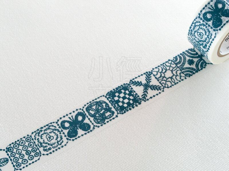 *小徑文化*日本和紙膠帶 MT x 皆川明 - forest tile.blue ( MTMINA29 )