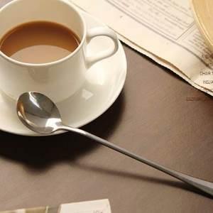 美麗大街【BF514E11】韓國創意不銹鋼長柄勺子 環保辦公室咖啡勺攪拌勺 長湯勺