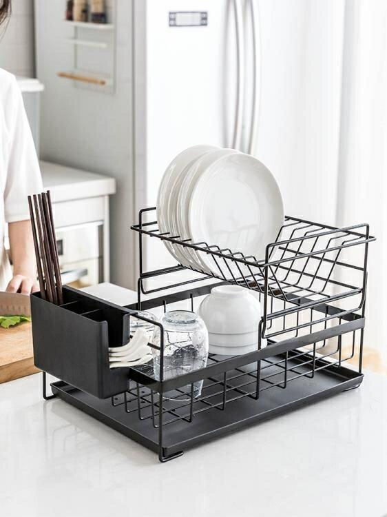 瀝水架 置物架雙層晾放碗筷碗碟碗盤廚房收納盒儲物架