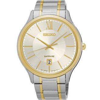 Seiko 7N42-0GG0KS(SGEH54P1) 雙色古典時尚腕錶/白面42mm