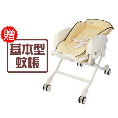【悅兒樂婦幼用品?】Combi 康貝 Letto 手動餐椅搖床-ST款(銀杏黃)【送基本型蚊帳x1】