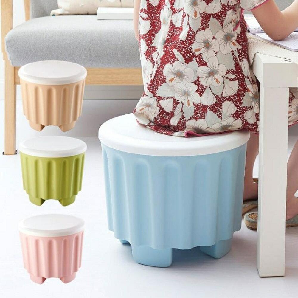 收納儲物凳可疊加可坐換鞋凳子塑料凳