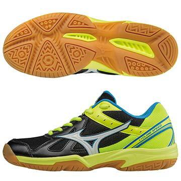 V1GA178075(黑X銀X螢光綠)CYCLONESPEED基本型體排球鞋A【美津濃MIZUNO】