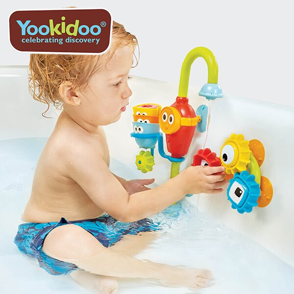 Yookidoo 以色列 洗澡玩具 /  戲水玩具 - 迷藏水龍頭齒輪套組 0