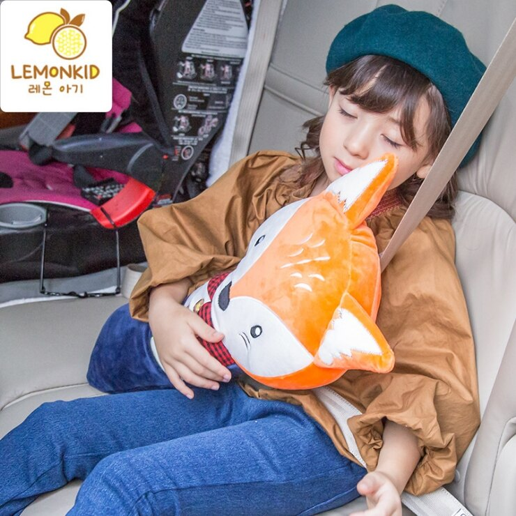 WallFree窩自在★【大抱枕】韓國卡通可愛動物抱枕  小兔  小熊  獅子 狐狸   安全帶抱枕  車用  熱銷好物 4