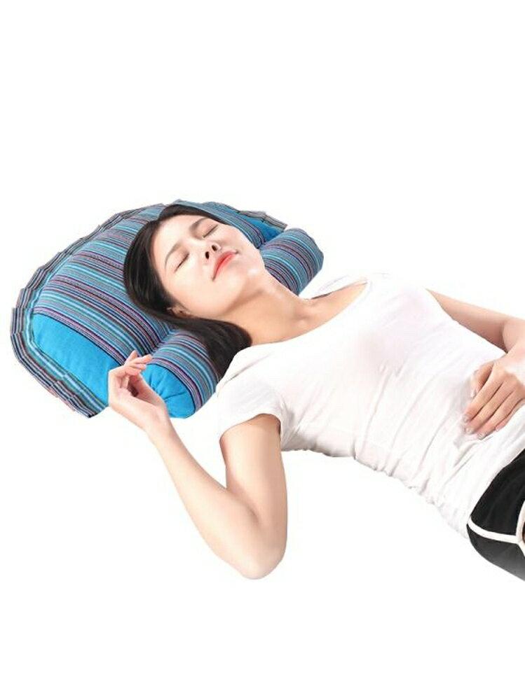 頸椎按摩枕頭黃豆枕大豆枕頭蕎麥殼頸枕圓柱枕男女護頸枕頭頸椎病 沸點奇跡