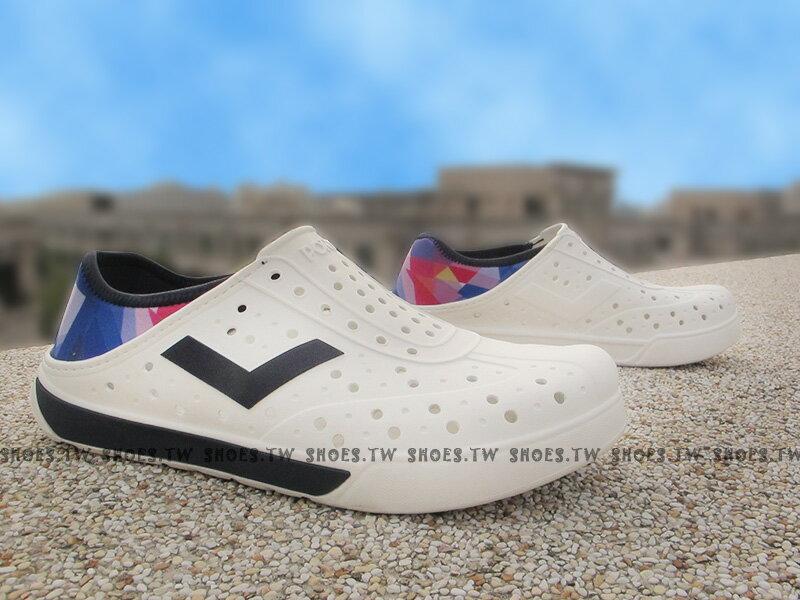 《限時特價79折》Shoestw【62U1SA68DB】PONY 洞洞鞋 可踩跟 新款 懶人拖 白深藍 彩色 男女都有