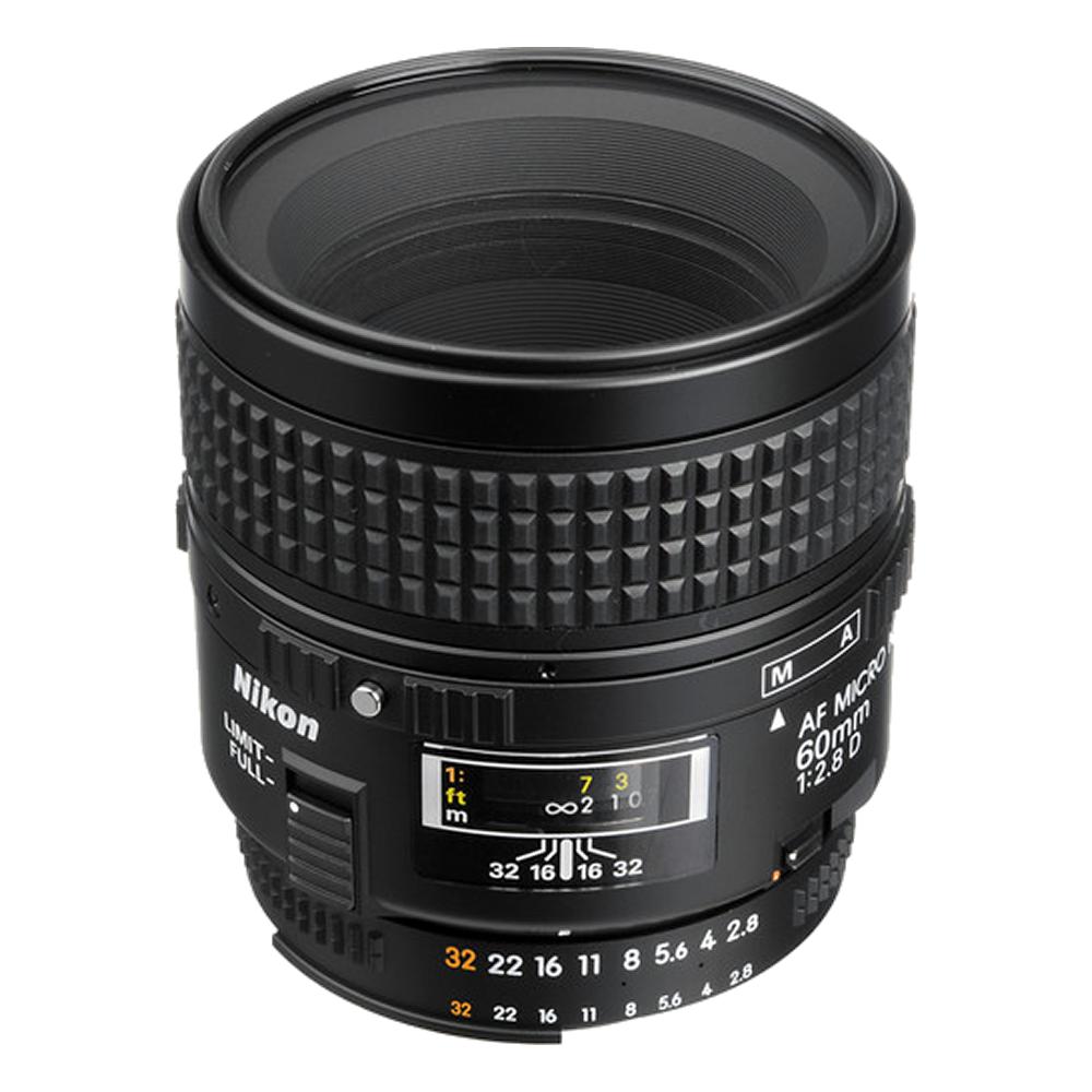 Nikon AF Micro-NIKKOR 60mm f/2.8D Lens International Model