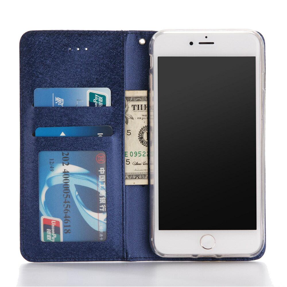 Apple iPhone 7 / iPhone 8 共用 星空粉彩系列皮套 側掀磁吸支架式皮套 頂級奢華質感 矽膠軟殼 抗震耐摔 2