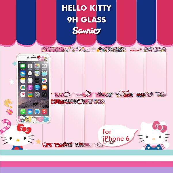 iPhone 6+ 6s+ Plus i6+ i6s+ 5.5 9H 正版 三麗鷗Sanrio HELLO KITTY 浮雕 鋼化玻璃 螢幕貼 手機 保護貼 保護膜 包膜 送禮/自用