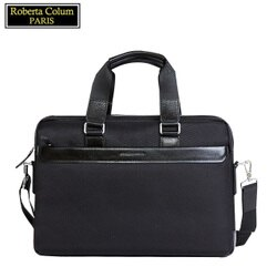 【Roberta Colum】諾貝達 百貨專櫃 男仕背包 側背包 公事包 男包(黑色8608)【威奇包仔通】