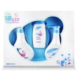 【兒童用品】施巴禮盒嬰兒粉藍熊語禮盒