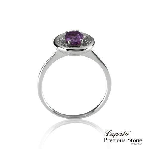 大東山珠寶 紫戀羅蘭 璀璨純銀紫水晶戒指 星座愛情 9