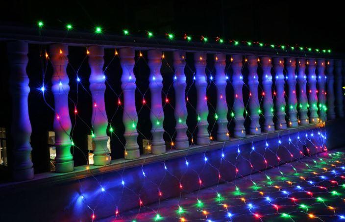 《沛大建材》$389 LED裝飾網燈 LED網燈 漁網燈 漁網格子燈 彩燈 滿天星 戶外 佈置 漁網格 防水 【S61】 4