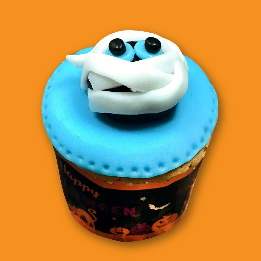 【上城糕餅小舖】木乃伊-萬聖節杯子蛋糕,翻糖杯子蛋糕,造型,可愛