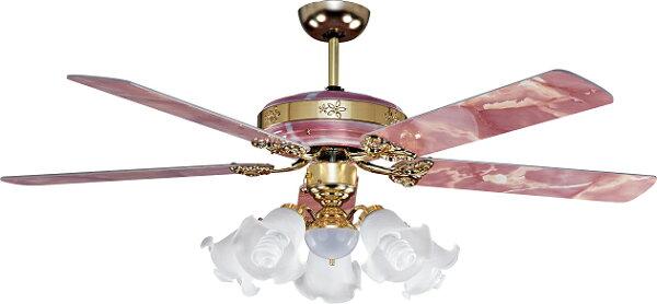 豪亮燈飾52吋楓葉手拉式5+1燈G.S櫻花紅(18293B)【台灣製造】
