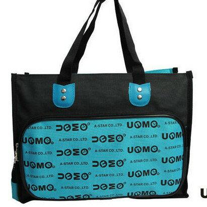 UnMe 英文LOGO多功能手提袋 補習袋 便當袋 (1314)