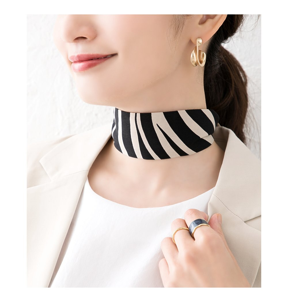 日本CREAM DOT  /  全7色 スカーフ ツイリースカーフ ファッション小物 ベルト ストール 大人 レオパード柄 ゼブラ柄 ペイズリー柄 ベージュ モカ レンガ  /  k00335  /  日本必買 日本樂天直送(1290) 9