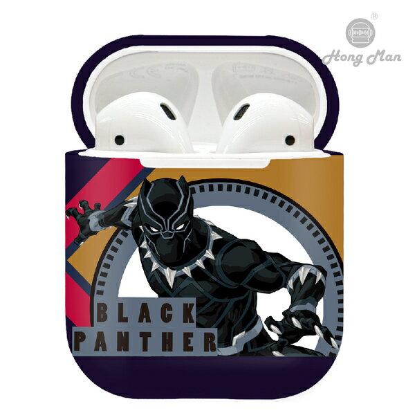 漫威MARVEL復仇者聯盟CAMINO AirPods硬式保護套 黑豹 圖騰款 iphone耳機殼 正版3C