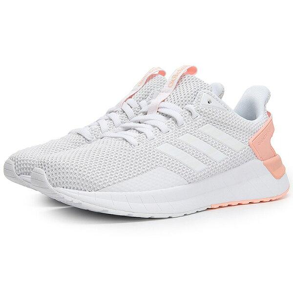 ADIDASQUESTARRIDE女鞋慢跑休閒透氣輕量白粉橘【運動世界】DB1811