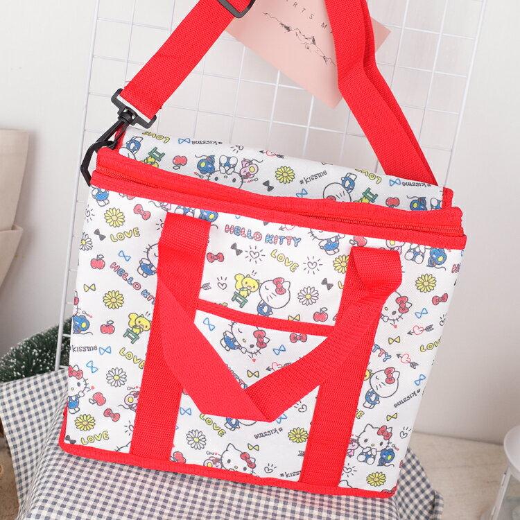 PGS7 三麗鷗系列商品 - 三麗鷗 Kitty 白色 滿版 野餐 保溫 保冷袋 (M號)【SI2D80053】 - 限時優惠好康折扣