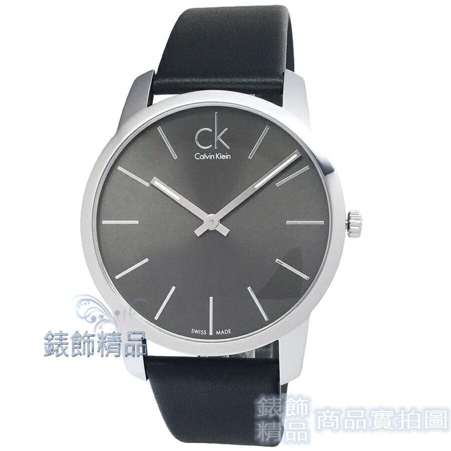 【錶飾精品】CK 手錶 K2G21107 Calvin Klein 經典 暢銷簡約時尚/鐵灰面黑皮帶 男錶